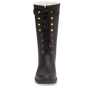 d14f9a99e Sam Edelman Shoes - Sam Edelman Black Lace Up Kay Rain Boots